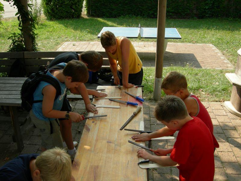 Bumerang Workshop mit Kindern