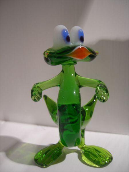 Frosch aus Glas